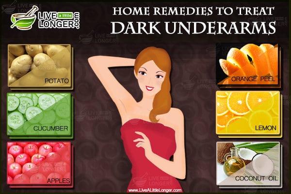 Home remedies to treat dark underarms