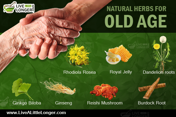 Natural herbal remedies for old age