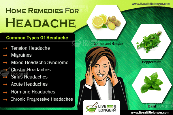12 Simple Home Remedies For Headaches For Instant Relief