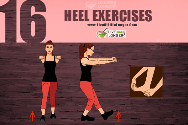 Heel exercise for balance of body
