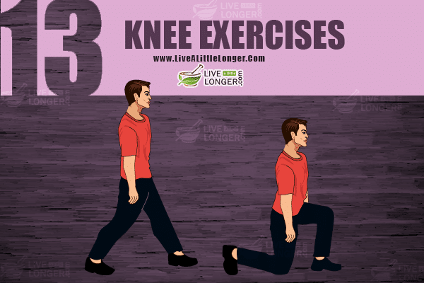 Knee exercise for developing leg muscles