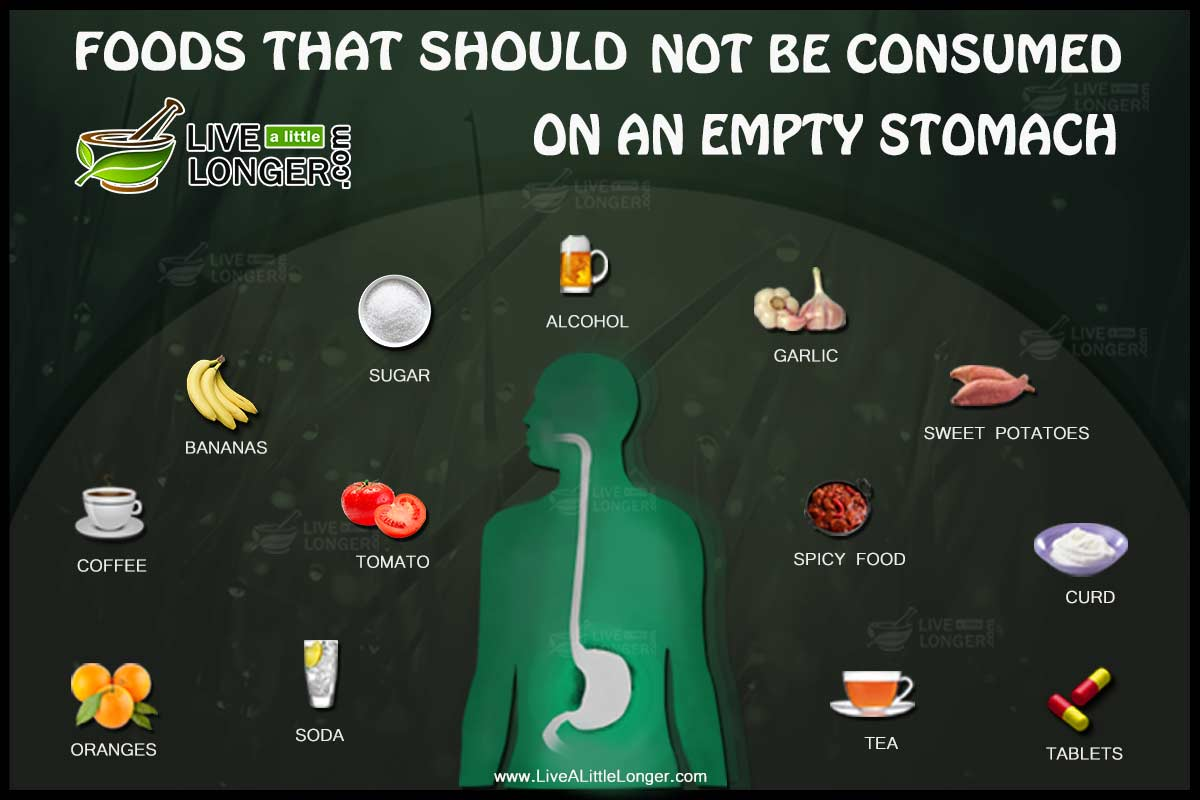 food that should not be consumed on empty stomach