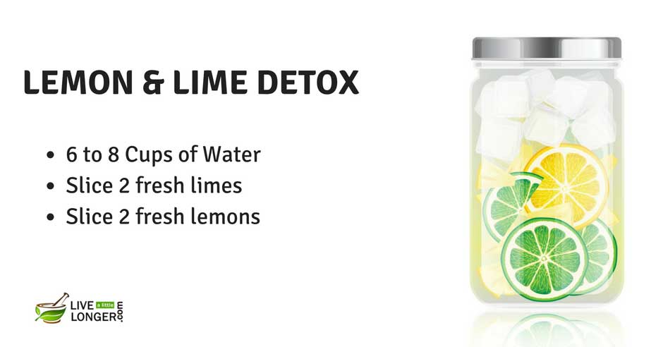 lime and lemon water detox