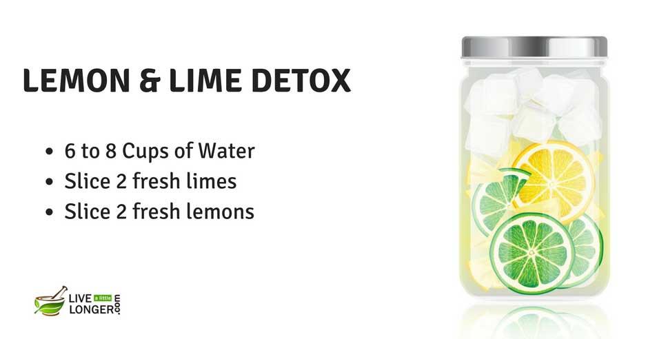 lime and lemon water detox