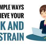 best ways to relieve neck and eye strain