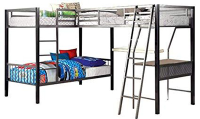 Bunk beds with workstation
